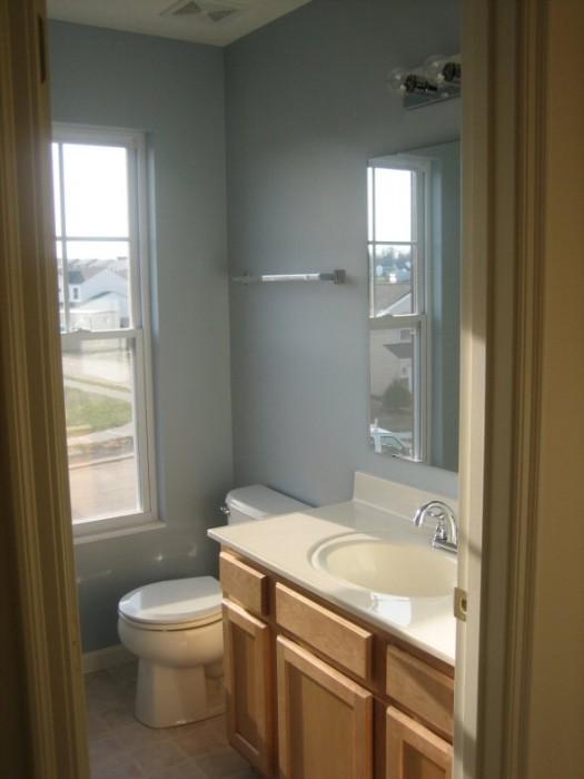 Guest bathroom painted