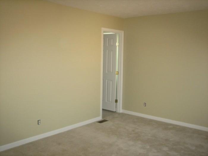 Master bedroom painted (door to master bath)