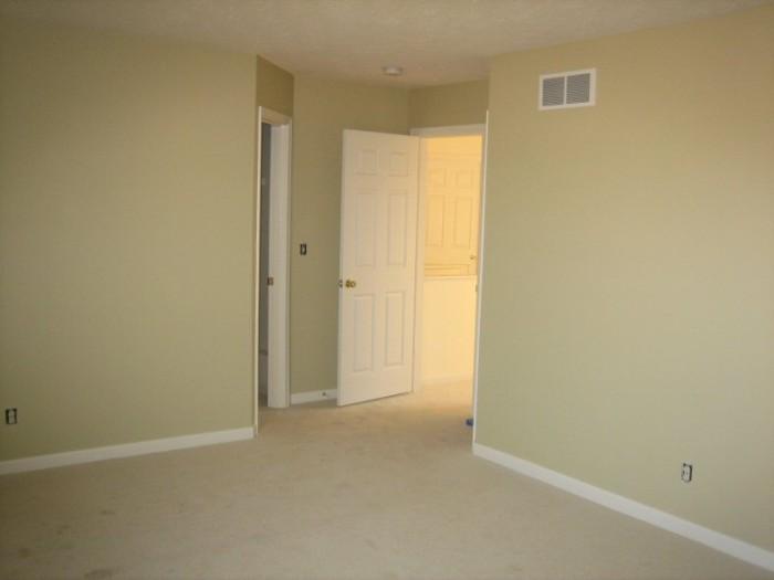 Master bedroom (entry door and closet doors)