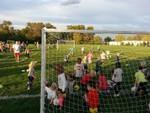Sean's last soccer practice of the season.